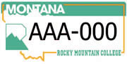 Rocky Mountain College plate sample