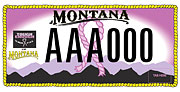 Tough Enough to Wear Pink of Montana plate sample