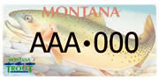 Montana Council of Trout Unlimited plate sample