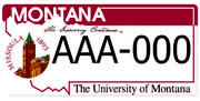 University of Montana – Clock Tower plate sample