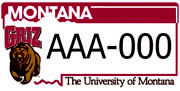 University of Montana – Griz plate sample