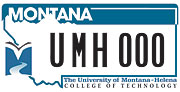 UM Helena College of Technology plate sample