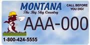 Montana Utility Coordinating Council plate sample